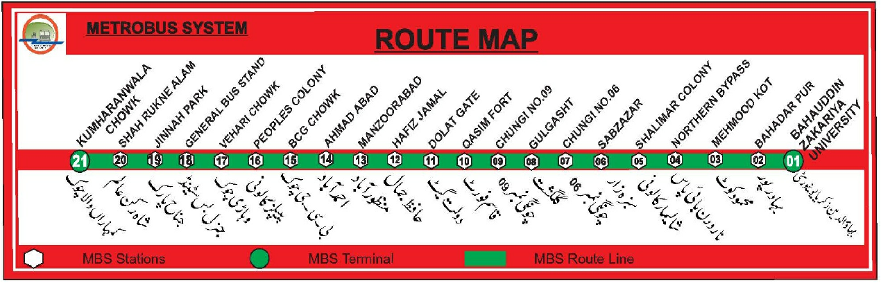 Multan Metrobus System | Punjab Masstransit Authority