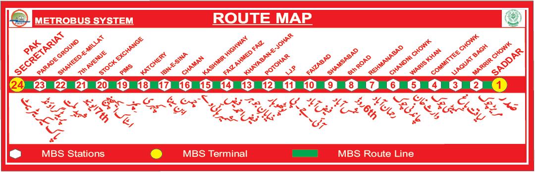 Pakistan Metrobus System (Route Map)   Punjab Masstransit